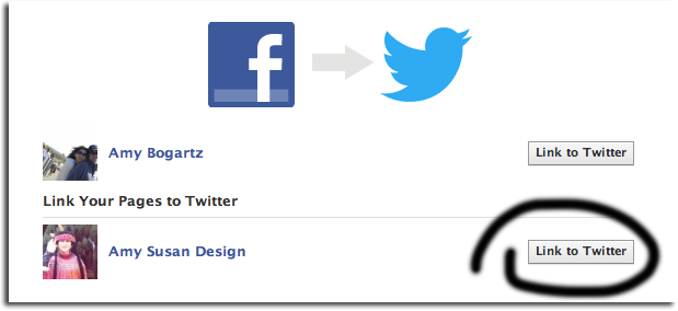 Facebook to Twitter Step 2